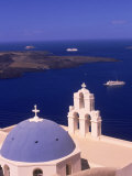Kimisis Theotokov Church, Santorini, Greece Photographic Print by Walter Bibikow