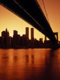 Brooklyn Bridge & Ny Skyline Photographic Print
