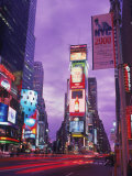 Millennium Sign and Times Sq at Night, NYC Photographic Print by Rudi Von Briel