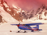 Plane, Kahiltna Glacier, AK Photographic Print by Jim Oltersdorf