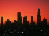 Skyline of Los Angeles at Sunset, CA Photographic Print by Mitch Diamond