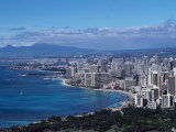 Aerial View of Oahu, Honolulu, HI Photographic Print by Barry Winiker