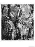 Statue in the Giardini Pubblici, Castello Giclee Print by Simon Marsden