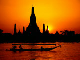 Temple of Dawn in Bangkok, Thailand Photographic Print by David Marshall