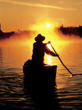 Sunrise Canoeing, Boundary Waters Canoe Area, MN Photographic Print by Amy And Chuck Wiley/wales