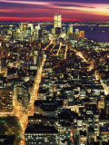 Aerial Night Shot of NYC Fotografie-Druck von Rudi Von Briel