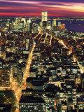 Aerial Night Shot of NYC Fotografie-Druck von Rudi Von Briel
