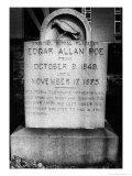 Edgar Allan Poe's Grave, Baltimore, USA Giclee Print by Simon Marsden