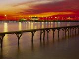 Soleil couchant sur Mobile Bay, Fairhope, Alabama Reproduction photographique par Jeff Greenberg