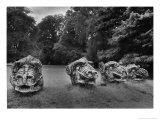 Griffins Heads, Wallington Hall, Northumberland, England Giclee Print by Simon Marsden