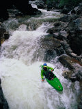 Kayaker Negotiates a Turn Photographic Print by Amy And Chuck Wiley/wales
