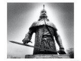 Statue of Vlad Dracul, the Park, Tirgoviste, Romania Giclee Print by Simon Marsden