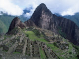 View of Incan Ruins, Machu Picchu, Peru Photographic Print by Shirley Vanderbilt