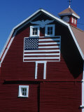 Barn with American Flag, Palouse County, WA Photographic Print by Christopher Jacobson