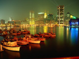 Inner Harbor at Dusk, Baltimore, MD Photographic Print by Mark Gibson