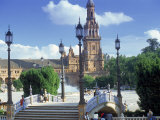 Plaza De Espana, Seville, South Spain Photographic Print by Peter Adams