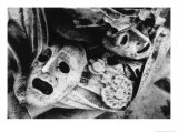 Detail from Tomb, Brompton Cemetery, London Giclee Print by Simon Marsden