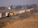 Freight Trains, La Fox, IL Photographic Print by Bruce Leighty