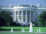 Exterior of White House, Washington, DC Fotografiskt tryck av Jon Riley