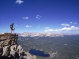 Hiker, Bald Mt, High Uintas, UT Photographic Print by Cheyenne Rouse