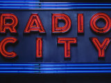 Sign for Radio City Music Hall, NYC Photographic Print by Barry Winiker