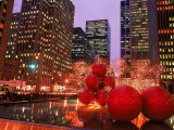 New York City at Christmas at Night, NY Fotografie-Druck von Rudi Von Briel