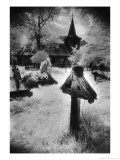 Graveyard, Village in the Carpathian Mountains, Romania Giclee Print by Simon Marsden