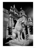 Lions Outside Tne Gates of the Arsenale Giclee Print by Simon Marsden