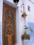 Door in Oudayas Casbah, Rabat, Morocco Photographic Print by Michele Burgess