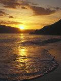 Sunset Over Beach, Angel Island, CA Fotografisk tryk af Steven Baratz