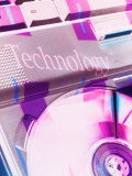 Technology Projected on a Computer Cd Tray Photographic Print by Lonnie Duka