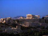 Parthenon from Filopapou at Dusk, Athens, Greece Photographic Print by Walter Bibikow