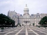 City Hall, Baltimore, MD Fotografisk tryk af Mark Gibson