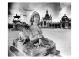 Statues,Chantilly Chateau, Picardy, France Giclee Print by Simon Marsden