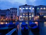 Gondolas, Venice, Italy Fotodruck von Peter Adams