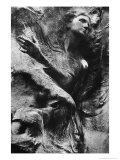 Carving on Tomb, Pere Lachaise Cemetery, Paris Giclee Print by Simon Marsden