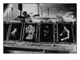 Paintings by the Highway, Louisiana, USA Giclee Print by Simon Marsden