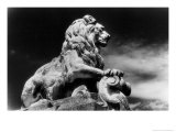 Statue of a Lion, City Gates, Arles, Provence, France Giclee Print by Simon Marsden