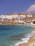 Aglos Stefanos Beach, Mykonos, Greece Photographie par Walter Bibikow