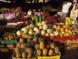 Fruits and Vegetables at Floating Market, Curacao Photographic Print by Timothy O'Keefe