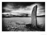 Standing Stone, Scott's View, Roxburghshire, Scotland Giclee Print by Simon Marsden