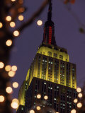 Empire State Building at Night, NYC, NY Photographic Print by James Lemass