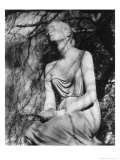 Statue at Brompton Cemetery, London, England Giclee Print by Simon Marsden