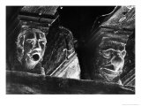 Medieval Heads, Mirepoix, Ariege, France Giclee Print by Simon Marsden