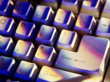 "Computer Keyboard with ""Enter"" Highlighted Photographic Print by Matthew Borkoski"
