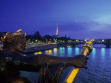 Eiffel Tower from Pont Alexander III Bridge, France Photographic Print by Lonnie Duka