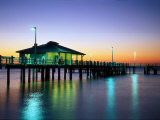 Fishing Pier at Sunrise, Fort de Soto Park, FL Photographic Print by David Davis