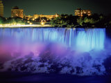 Niagara Falls with Blue Light, NY Photographie par Rudi Von Briel