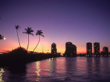 Skyline and Sunset, West Palm Beach, FL Fotografie-Druck von Robin Hill