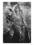 Angel on Tomb, Ardoginna House, County Waterford, Ireland Giclee Print by Simon Marsden